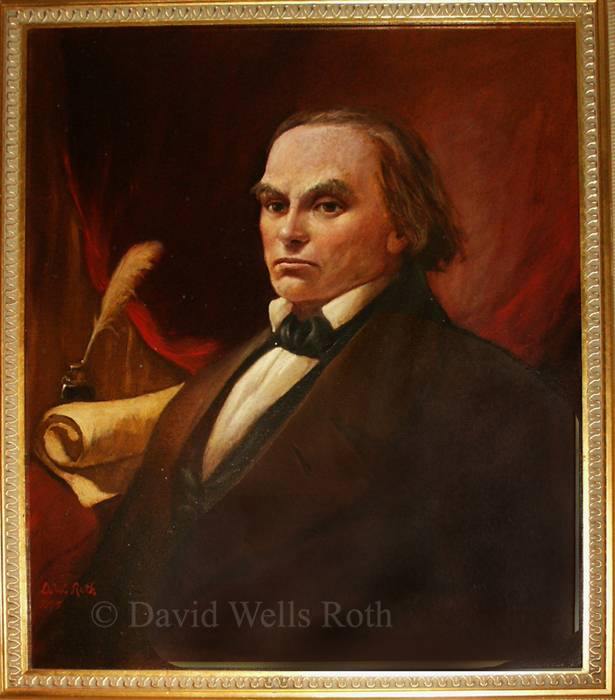 Daniel Webster, oil on canvas, 1995