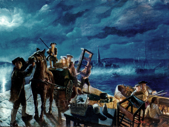 The Midnight Escape, oil on canvas, 1996