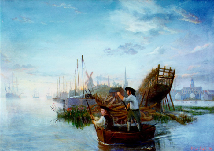 Tidal Passage to Liberty, oil on canvas, 1995