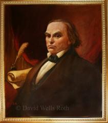Daniel Webster, oil on canvas, 1995