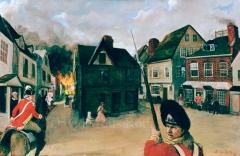 Charlestown Burning, oil on canvas, 1996