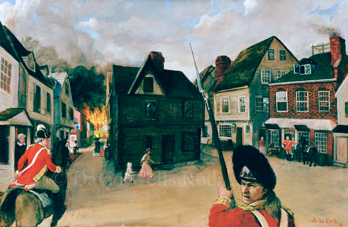 Charlestown Burning, oil on canvas, 1996
