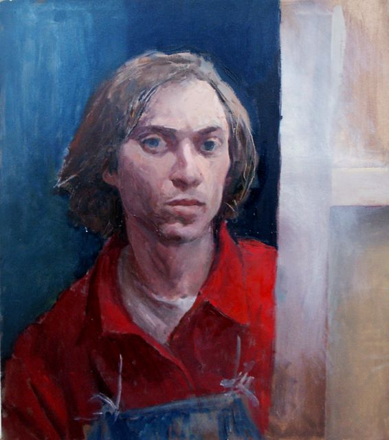 self portrait, oil on canvas, 1984