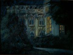 Paris nocturne, oil on canvas, 1982