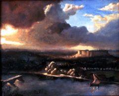 Pont d'Avignon, oil on canvas,1982