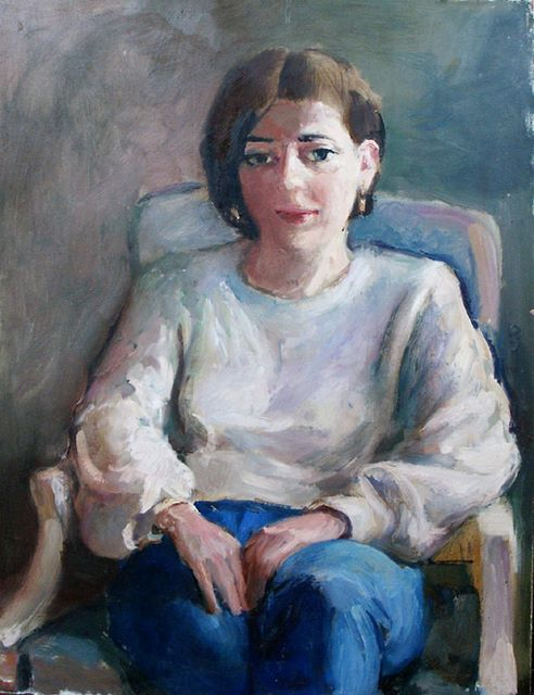 Claire, oil on canvas, 1984
