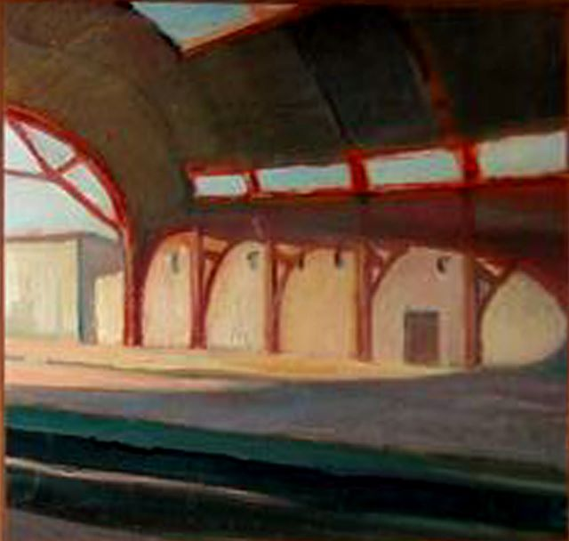 Gare d'Avignon, oil on board, 1983