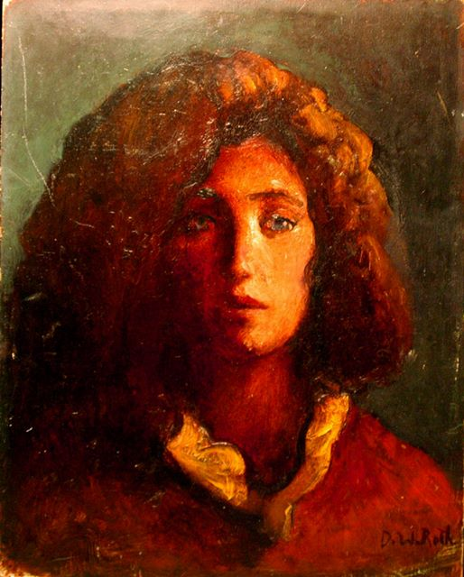 Gina, oil on board, 1982