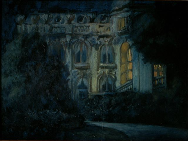 Paris nocturne, oil on canvas, 1982