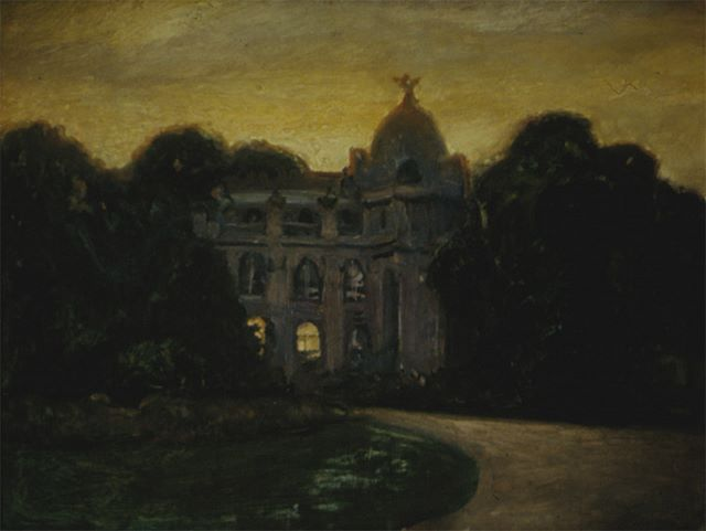 Paris Nocturne, oil on board, 1982