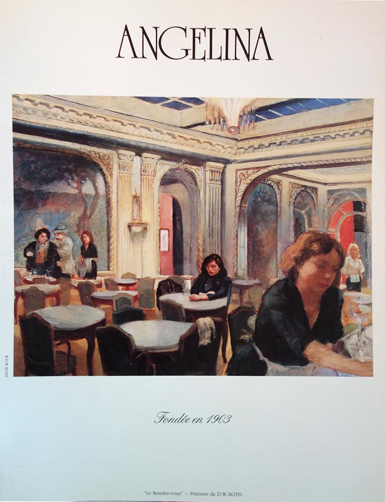 Angelina Menu Cover - 1988-1993