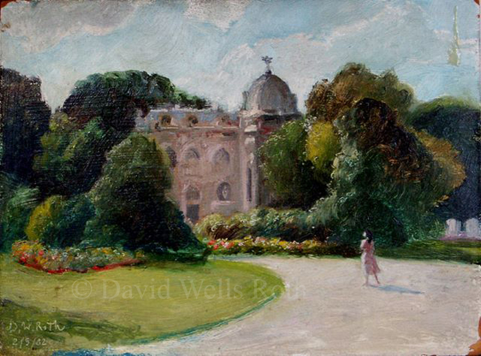 Marie-Christian in the Jardin Clemanceau