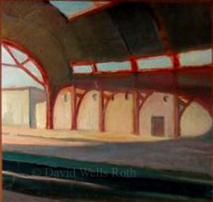 Gare d'Avignon, oil on board, 1983