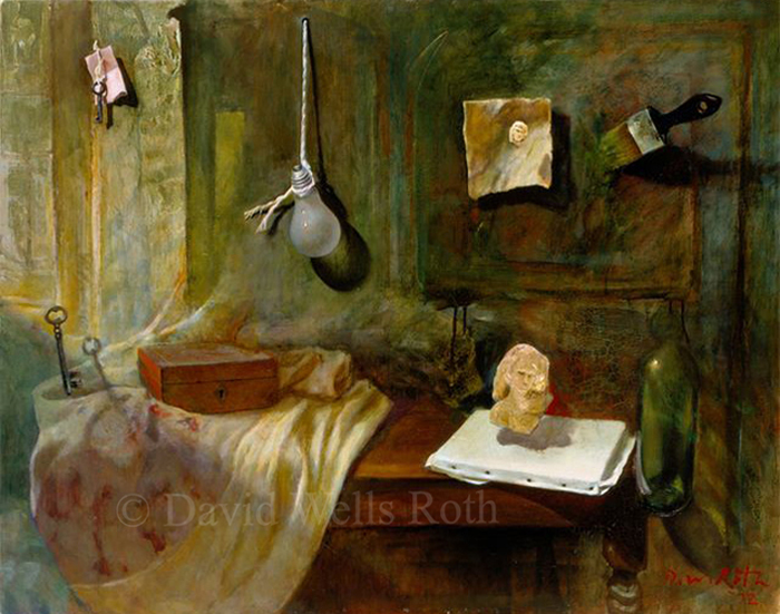 Le Veillie, oil on canvas, 1992