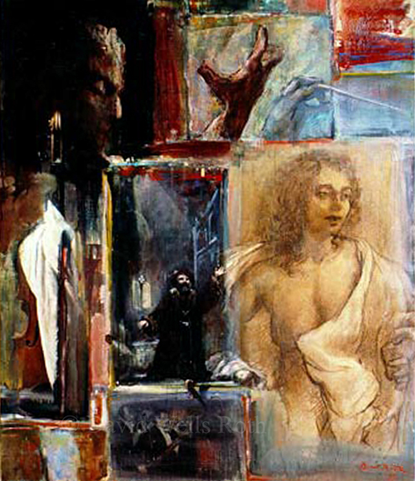 Opera light and color, oil on canvas, 1993