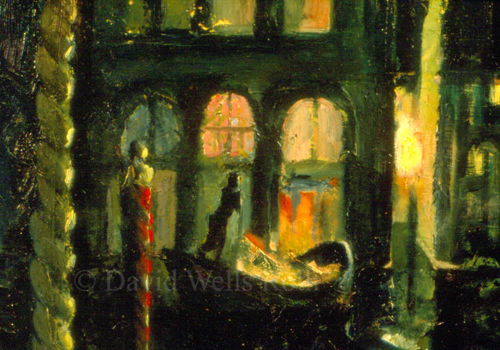 Night lights in the Canal, 1985
