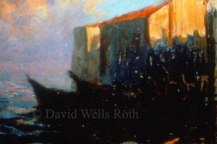 Sunset over Burano, 1986