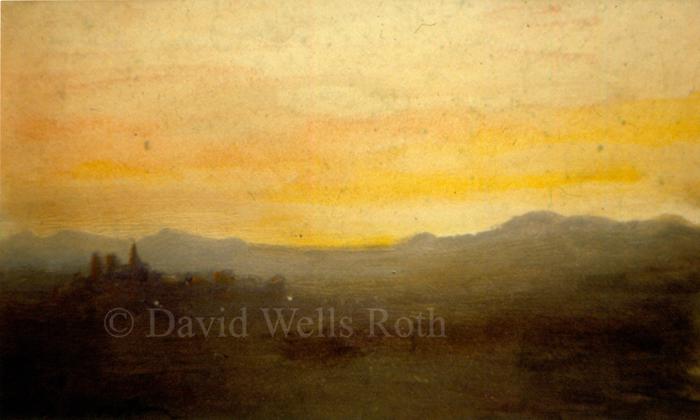 Sunset over Tuscany, 1984