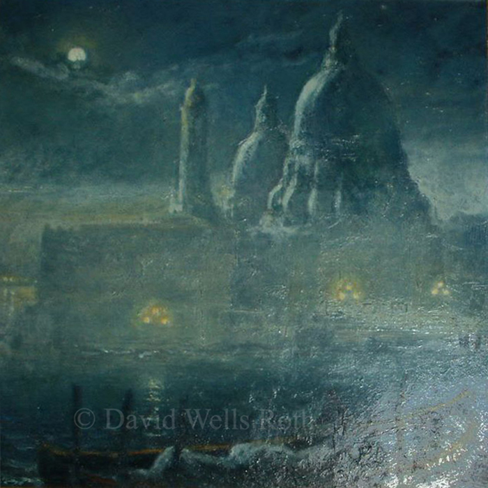 Moon over Venice, oil on canvas, 1984