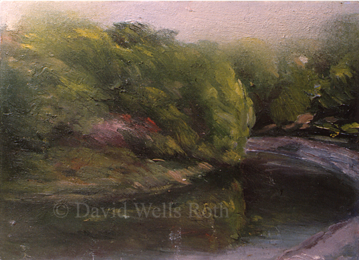 View in Central Park, oil on canvas,