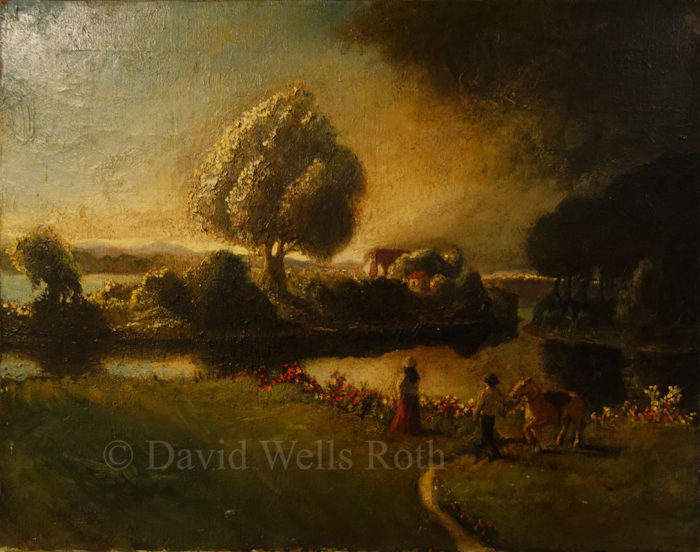 Fantacy landscape, oil on canvas,