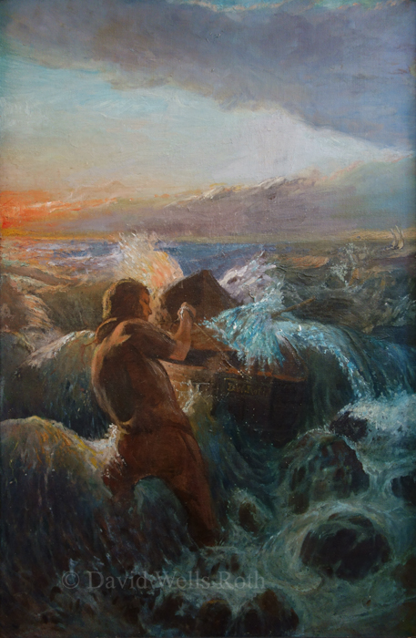The Fisherman, oil on canvas,