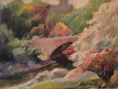 Central Park, oil on canvas, 1980