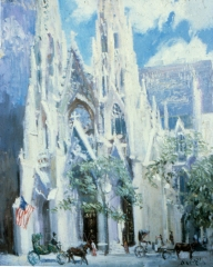 St Pats, oil on canvas,