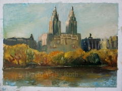 Central Park looking west, oil on canvas,