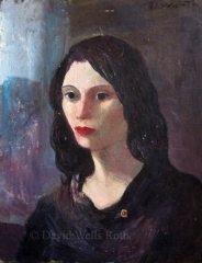 Head of a Girl, oil on board,