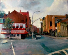 Sheradon Square, oil on canvas,
