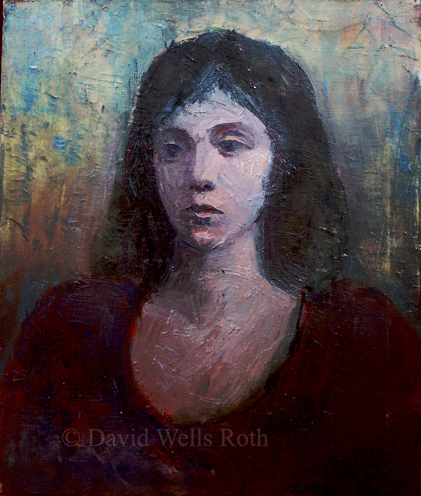 Head of a Girl, oil on canvas,
