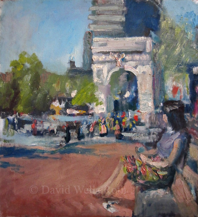 Washington Square, oil on canvas,