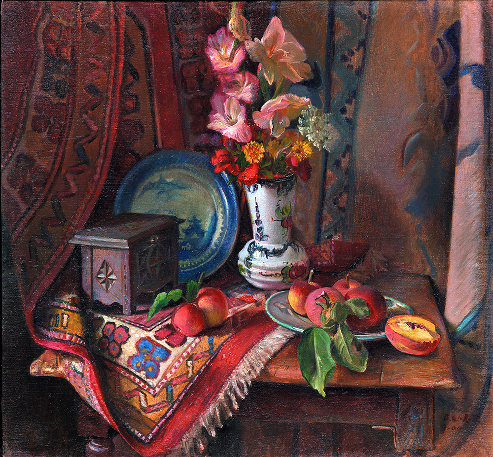 Still life with Gladiolas