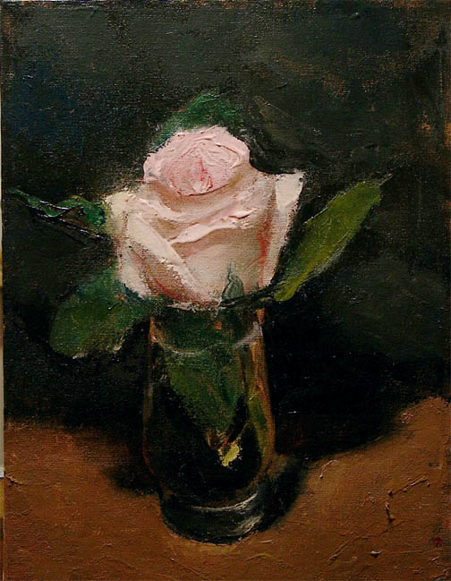 Pink Rose - (Inspired by Edward Manet's flower series)