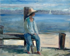 Seated Girl in Blue