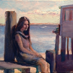 Girl at the Bay