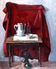 Still Life with WHite Pitcher and GE Fan