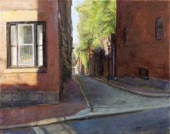 Looking West on Acorn Street