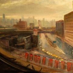 Approaching Queensborough Bridge