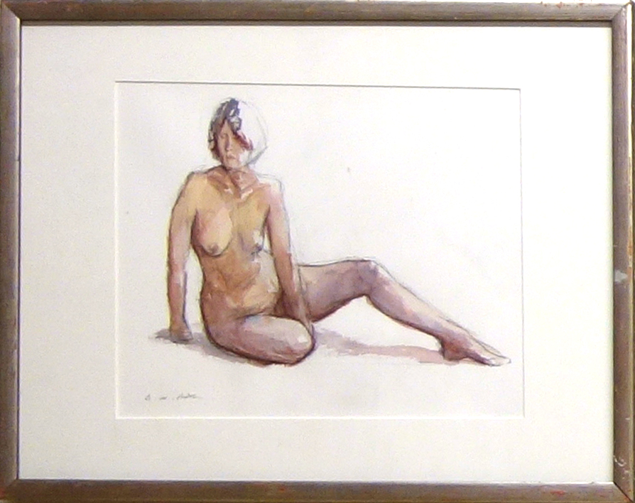 SEATED NUDE WITH EXTENDED LEG