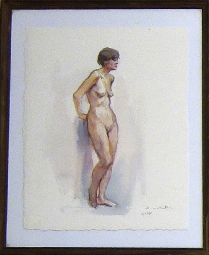 STANDING NUDE LEANING