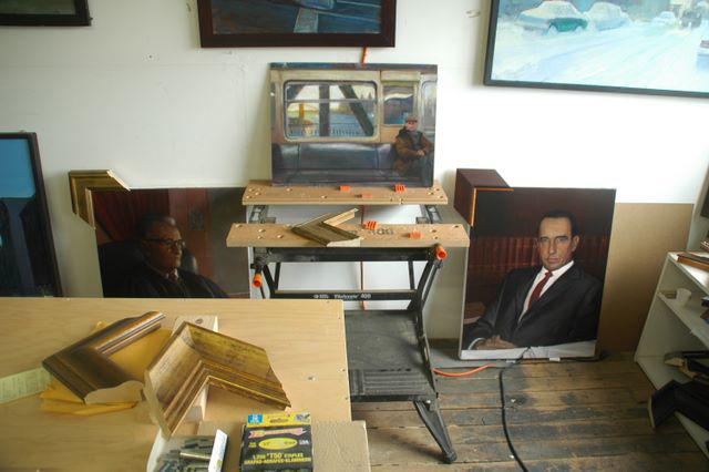 Framing Judge Cancio and Judge Nazario's portraits